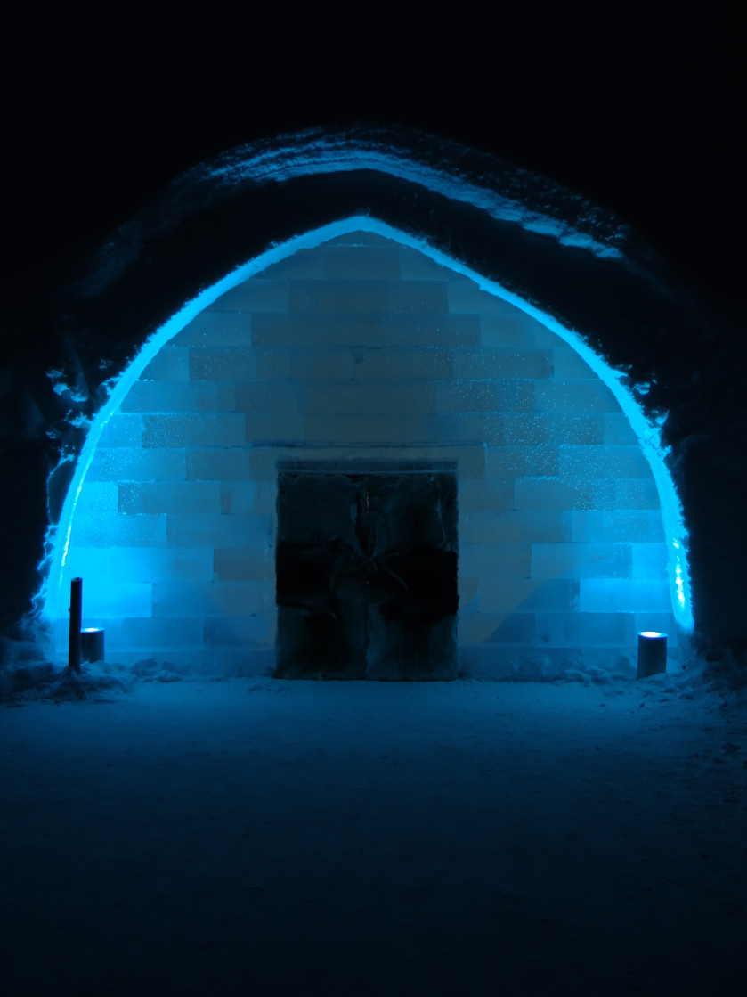 It's cold. It's blue. It's Icehotel.