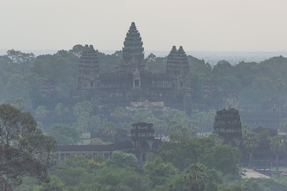 Angkor Wat from our balloon
