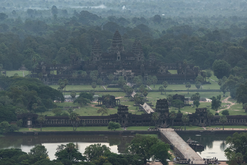 Angkor Wat from a balloon