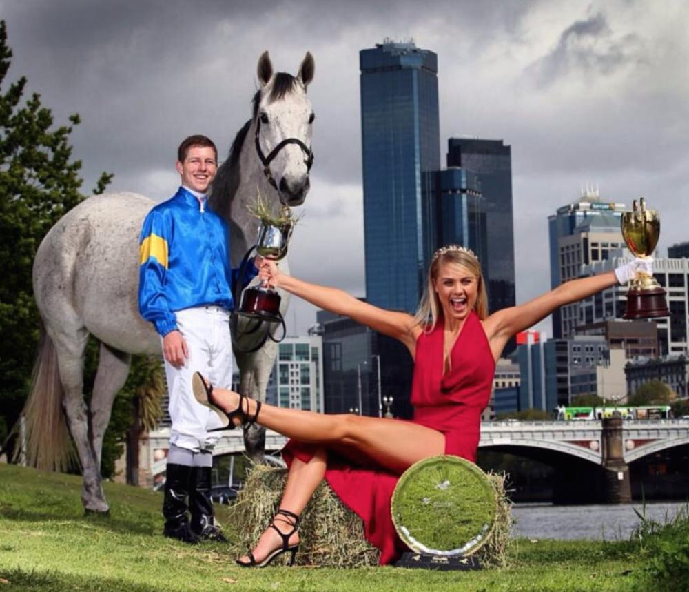 Damian Lane & Elyse Knowles Sring Racing 2015.png