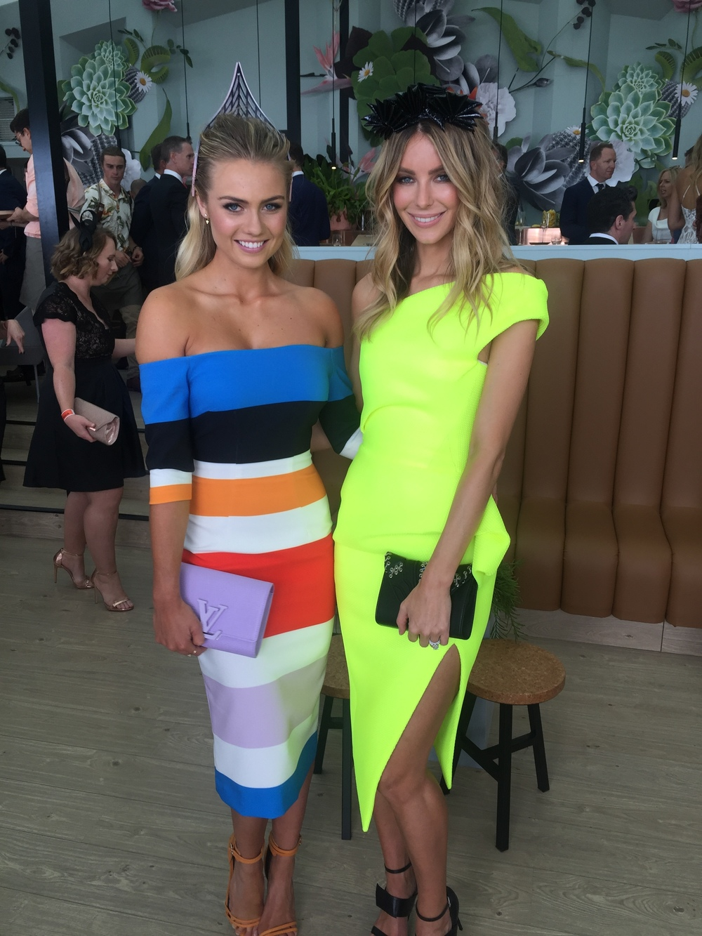 Jennifer Hawkins and I on Melbourne Cup Day!