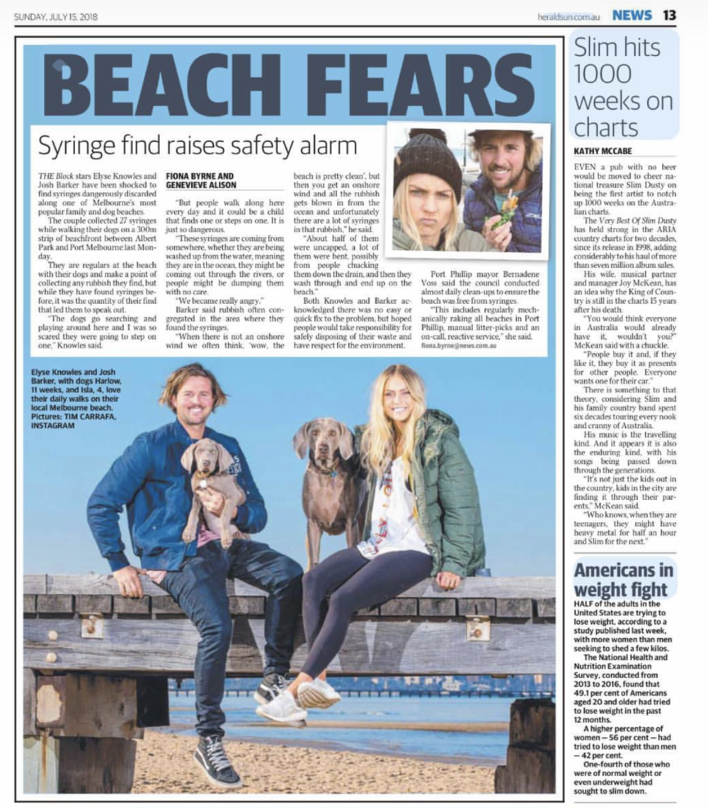 HERALD SUN PAGE 13. 15/07/2018