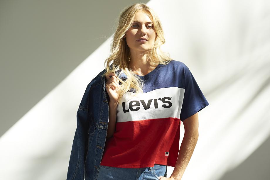 Wearing Levi's