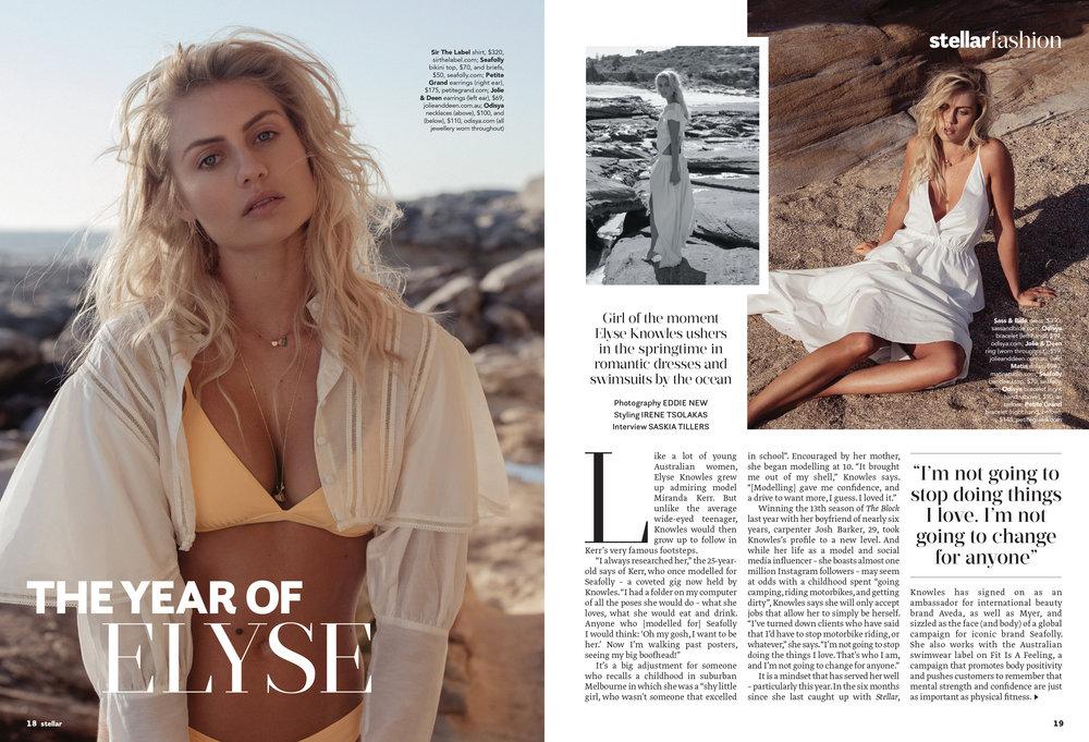Elyse Knowles Stellar Magazine August 2018