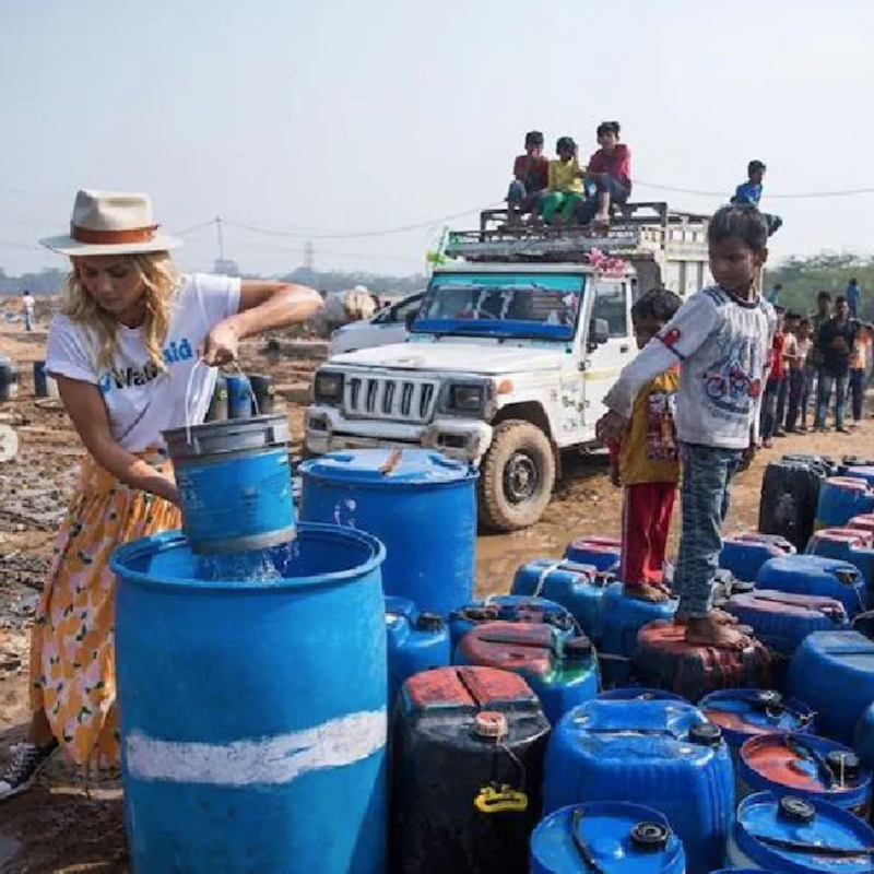 Elyse Knowles in India with WaterAid 2018