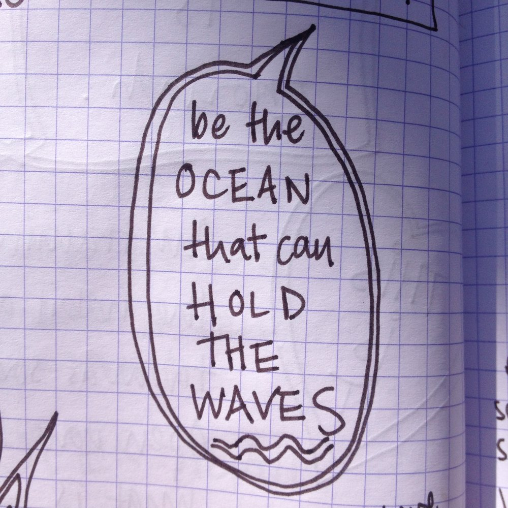 Be the ocen that holds the waves.jpg