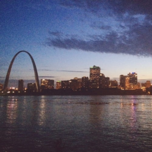 Beautiful view of downtown St. Louis