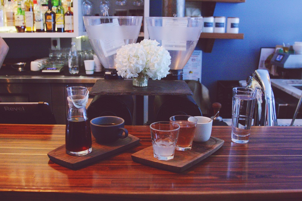 Flight of tasting notes to go with your coffee at SlipStream