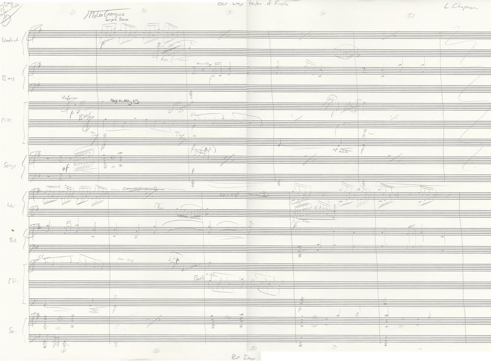 Page 1 of the sketch score to 80 Days. Click to enlarge. (Opens in new window.)