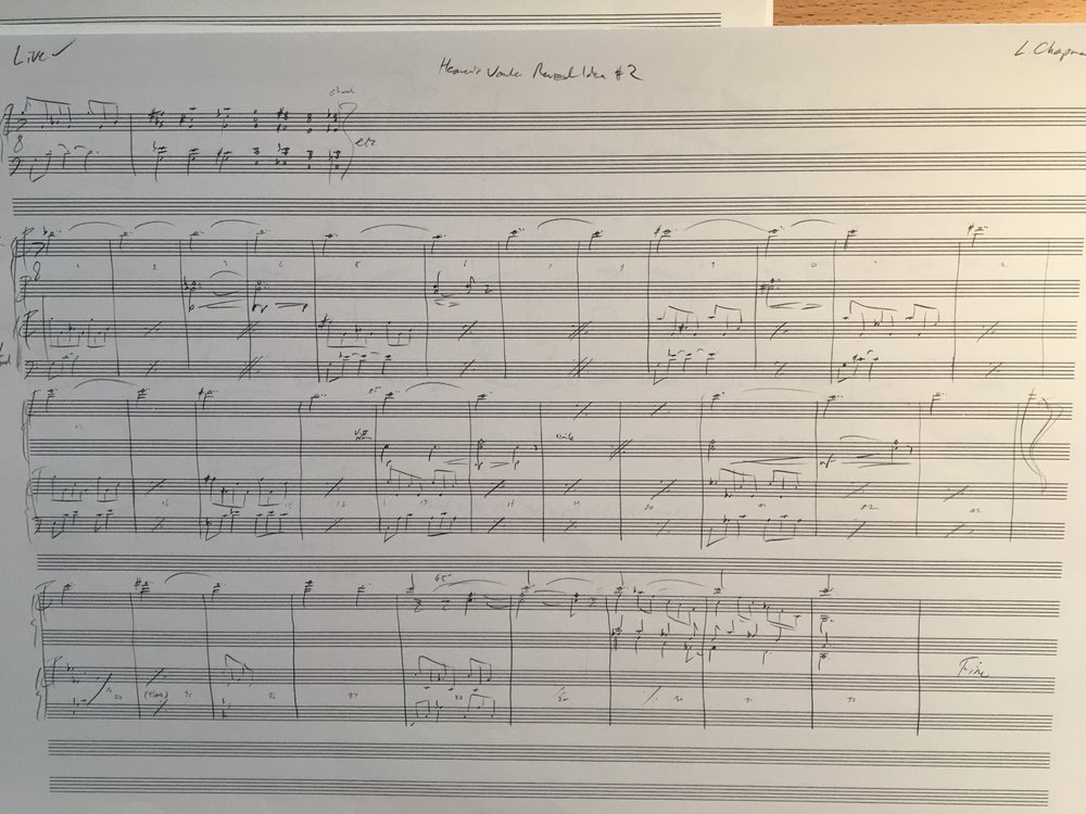 The original score for 'Reveal #2'