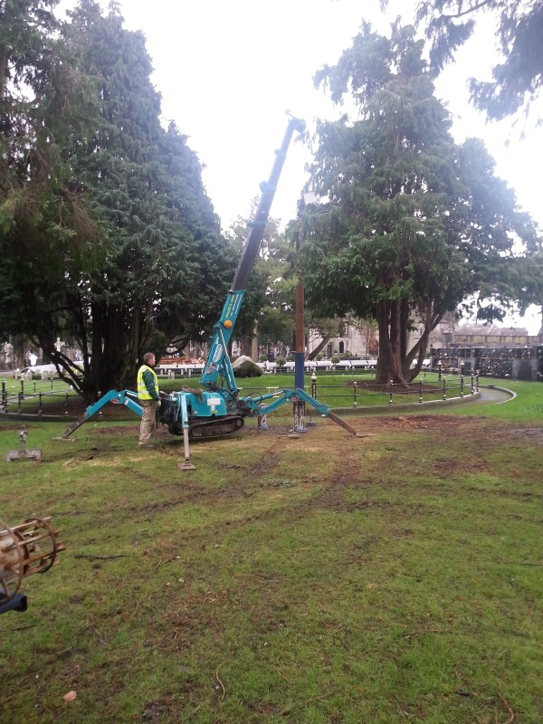 220mm Mini Pile tests in Glasnevin Cemetery, Dublin