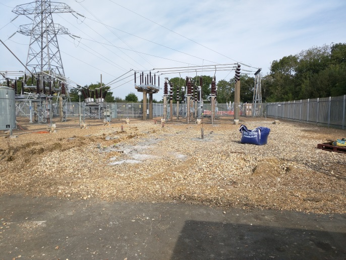 Mini Pile Testing in an Electric Sub Station, Isle of Wight