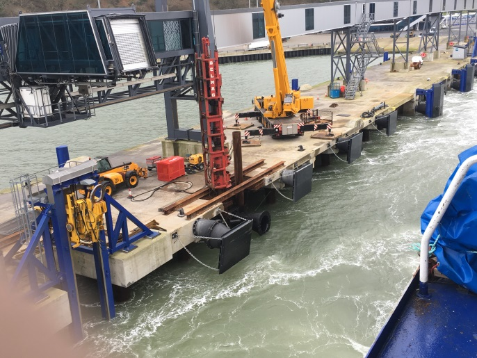 Testing Steel Tubes for Dock Fender Repair, Stenaline Dock, Cairnryan, Scotland