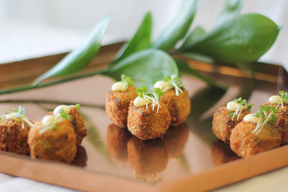Oxtail croquettes, mustard mayonnaise
