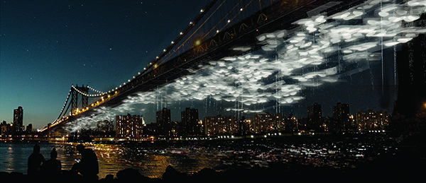 Constellation Park, at the Manhattan Bridge (Rendering). / DeathLab + Latent Productions