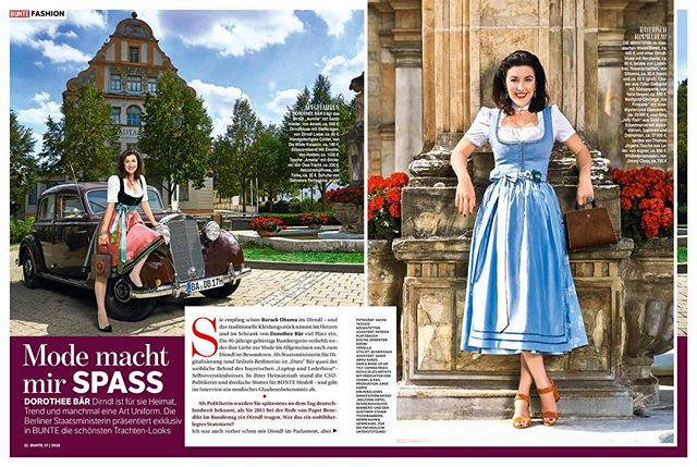 Great day with #staatsministerin @dorobaer for @bunte_magazin  Photographer: @sachahoechstetter  Photoassistent: @patrick_platzdasch  Stylist: @oliverrauh @abousuede_samir Make-up Artist: me @les__artists  Producer: @anke_koppe  #newwork #editorial #magazine #trachten #bunte #teamlove #bamberg #dirndl #tradition #tracht #oktoberfest #oldtimer #staatsministerin #love #makeup #glow #makeupartist #hairstylist #potd #instagood #instadaily #amazing #fashion #represented #lesartists