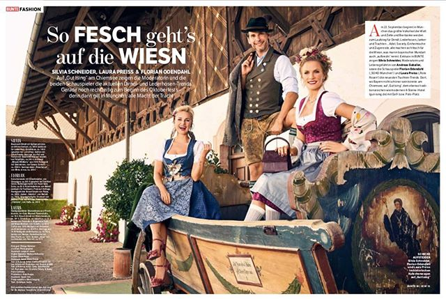 So fesch geht's auf die Wiesn OUT NOW @bunte_magazin  Photographer: @philipprathmer  Photoassistent: @leopoldjonas  DOP: @markusdettweiler  Stylist: @oliverrauh @abousuede_samir Make-up Artist: @happyspecki & me @les__artists  Producer: @anke_koppe  #newwork #editorial #magazine #trachten #bunte #teamlove #gutising #dirndl #tradition #tracht #oktoberfest #actor #presenter #love #makeup #glow #makeupartist #hairstylist #potd #instagood #instadaily #amazing #fashion #represented #lesartists