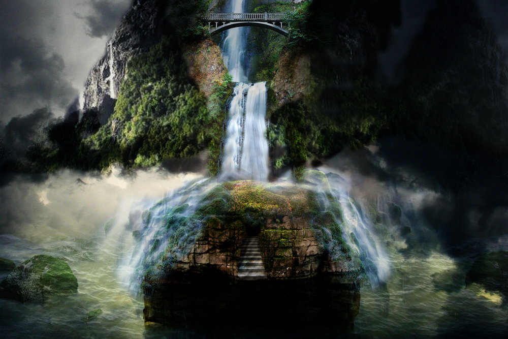 Island Waterfall - Real or Fiction?