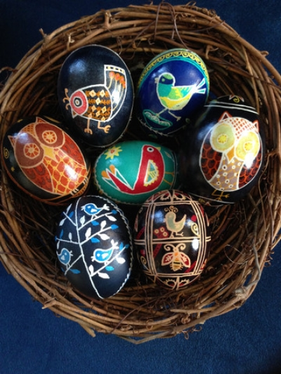 Some of Amy's custom pysanky creations