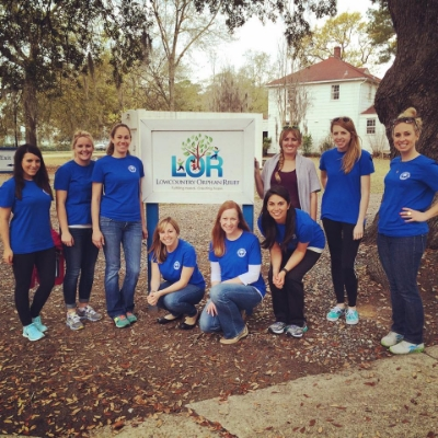 Frances and Janeen volunteering at Lowcountry Orphan Relief