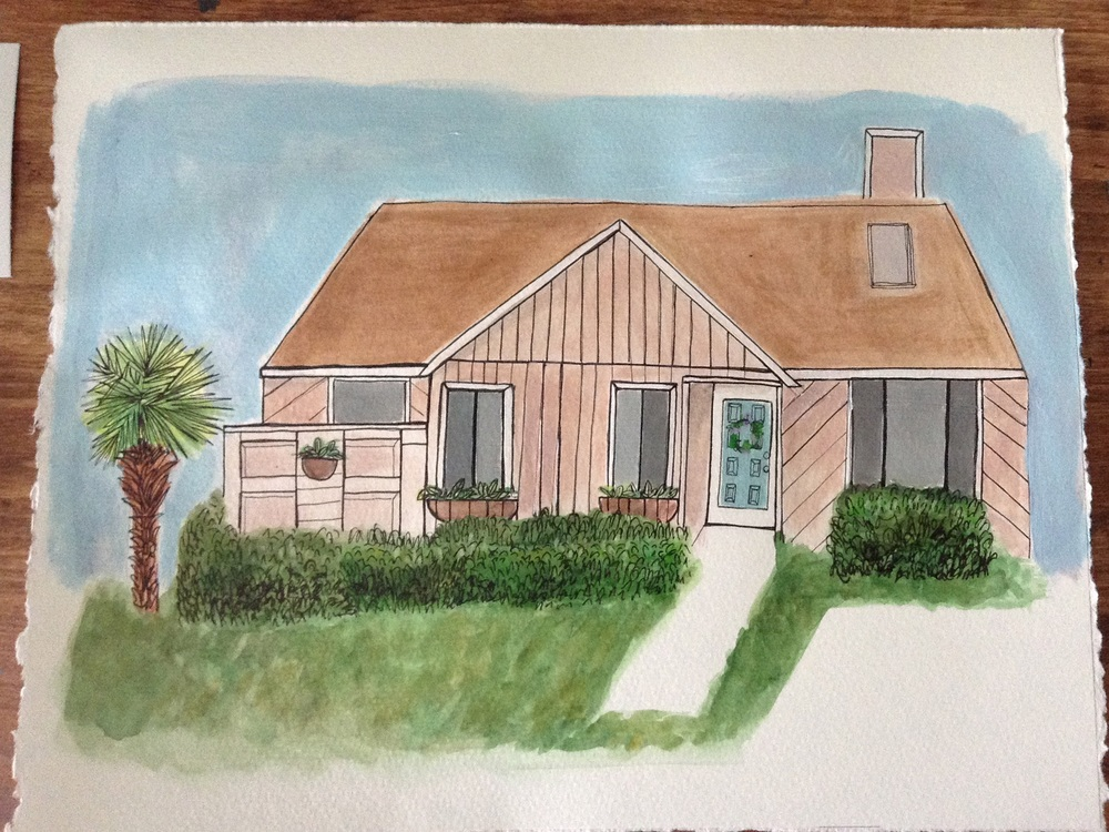 A favorite of ours... Kristen Solecki's portrait of Emily's house!