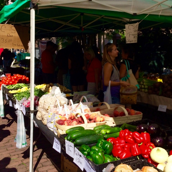 Another colorful day at the downtown Farmer's Market