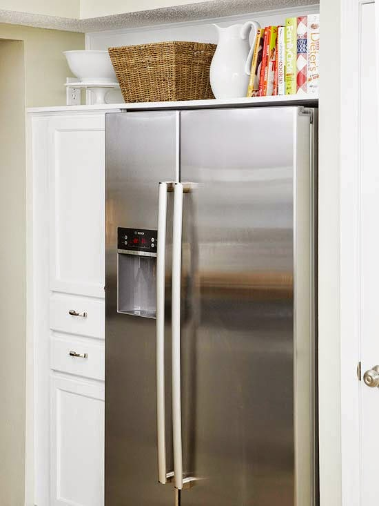 How To Maximize The Space Above The Fridge Refreshed Designs