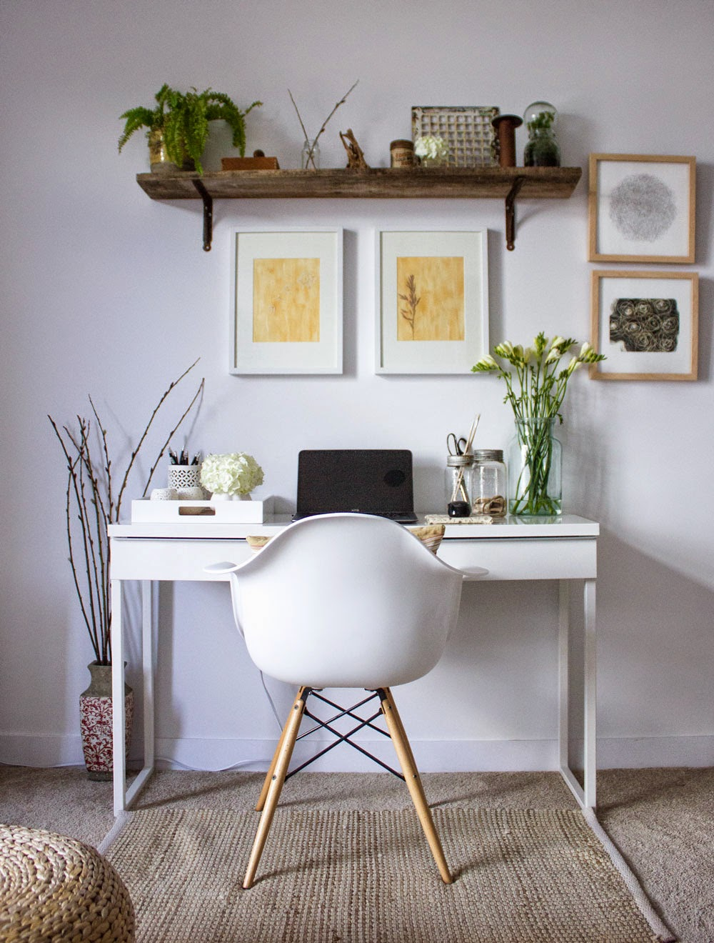 refreshed spring home workspacejpg - Simple Home Office