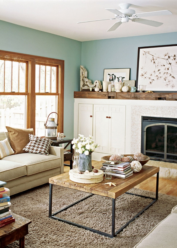 Living Happily with Wood Trimpaint colours that play well with