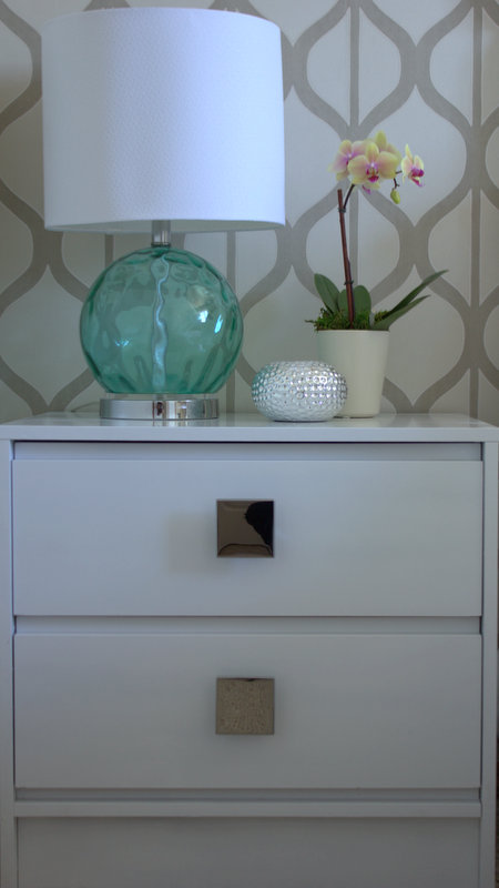 upcycled glam bedside table tutorial