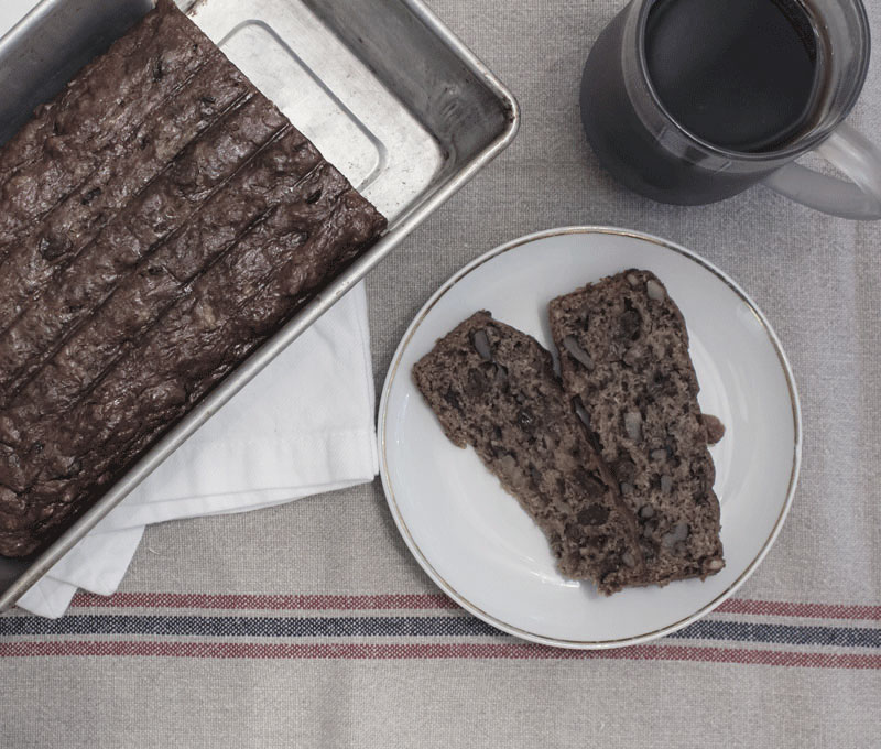 My Mom's banana bread, with some healthy modifications