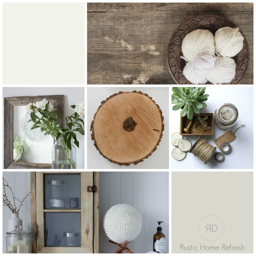 modern rustic country house mood board