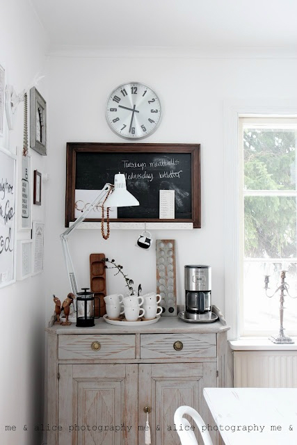 simplifying the kitchen by organizing coffee and tea