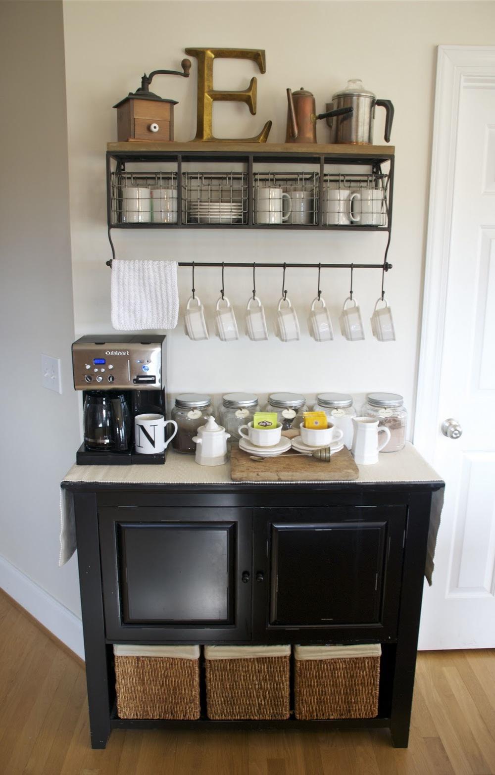 DIY coffee and tea station