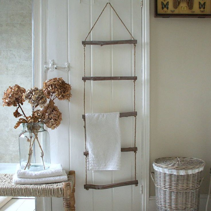 driftwood towel ladder