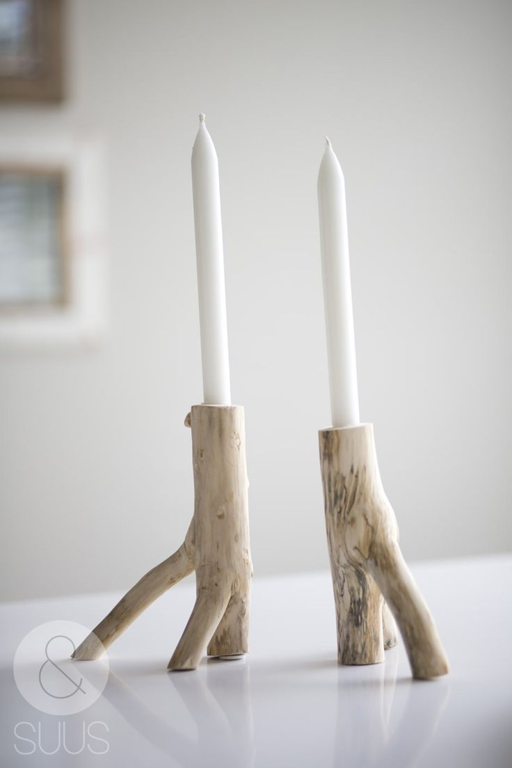 driftwood taper candle holders
