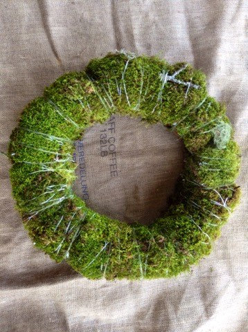 real moss holiday wreath