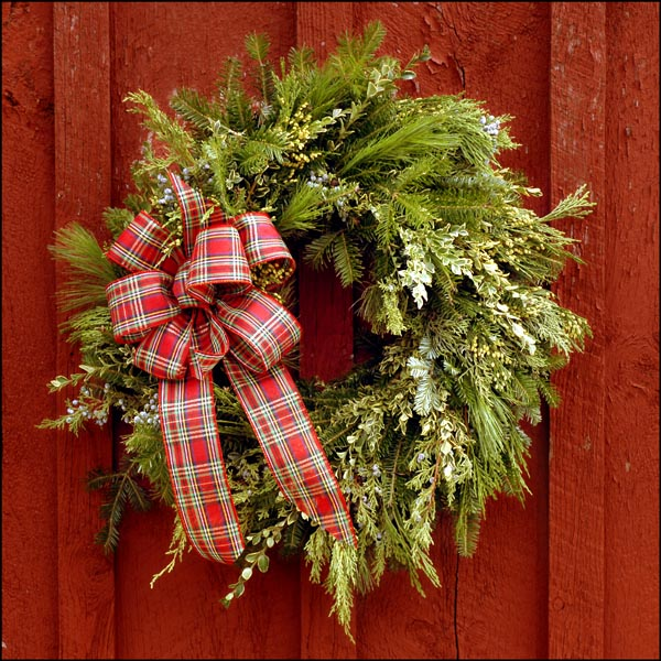 classic pine and fir holiday wreath