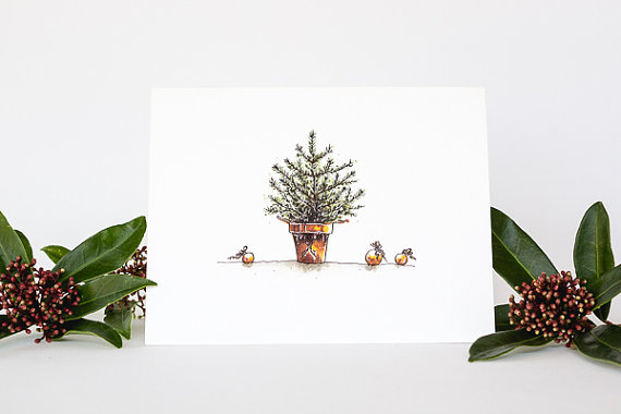 handmade Christmas cards - top sustainable holiday decor