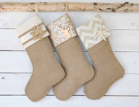 natural handmade stockings