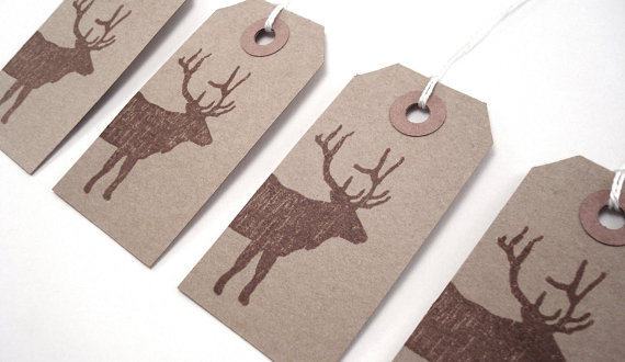 handmade natural christmas gift tags