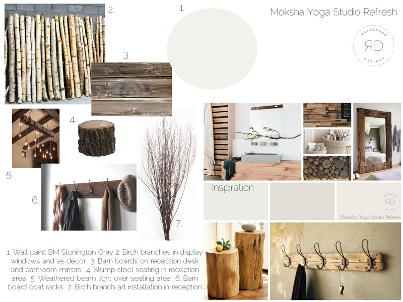 Yoga Studio Design Board concept