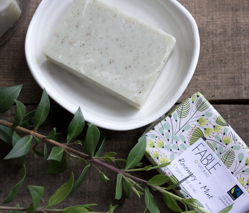 fable naturals soap - sustainable gift guide