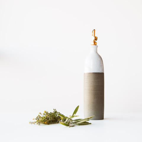 handmade ceramic oil dispenser - sustainable gift guide