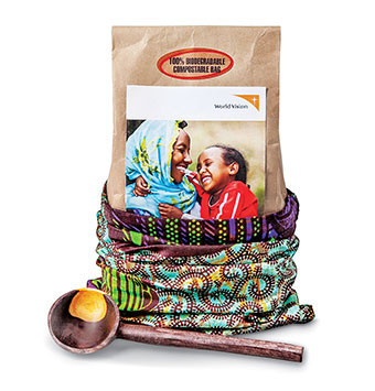 fair trade coffee from World Vision - sustainable gift guide