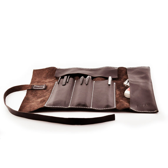 leather pencil and tool case - sustainable gift guide