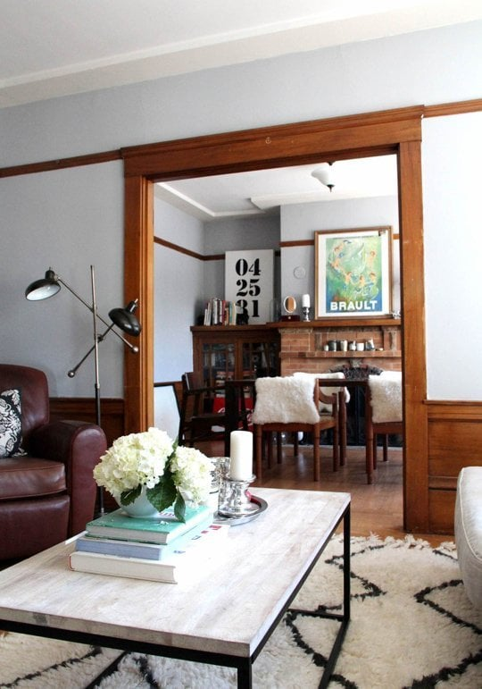 keeping wood trim and light walls