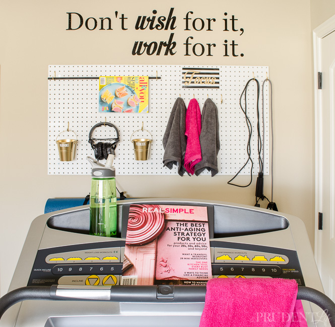 decorating a treadmill corner at home