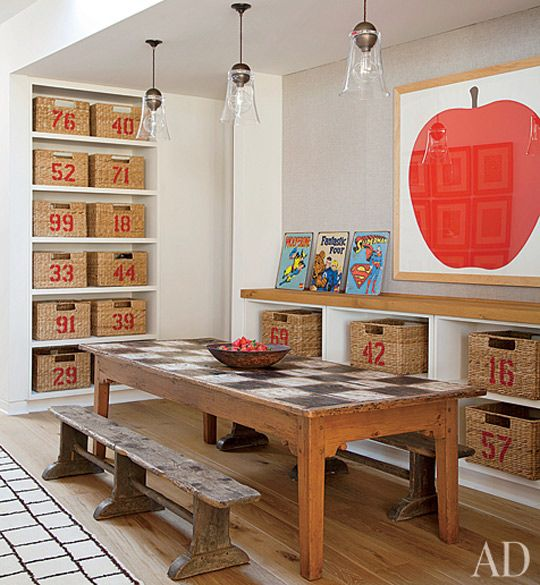 simple and organized family game room