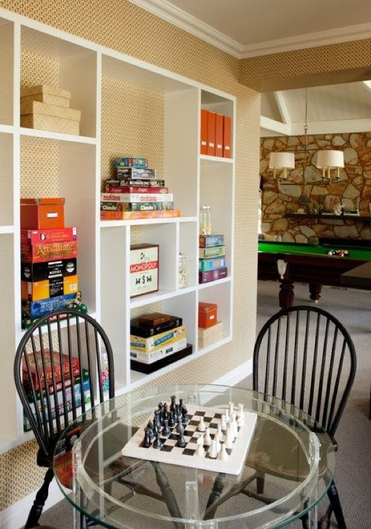 tall shelving for games room